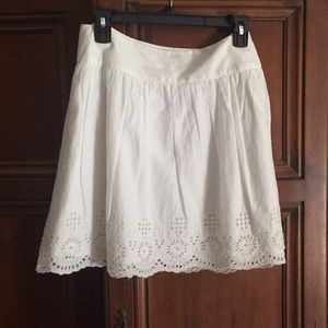 French Connection White Skirt